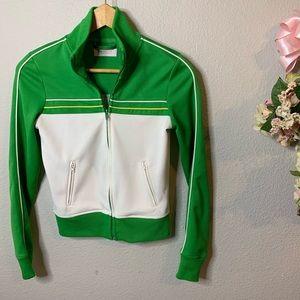 Zenana Vintage Looking Athletic Jacket
